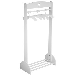 """Image of Kid""""s Concept Clothing Rail Star White Clothing Rail Star White' (126080)"""