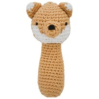 sebra Crochet Rattle Fox BROWN
