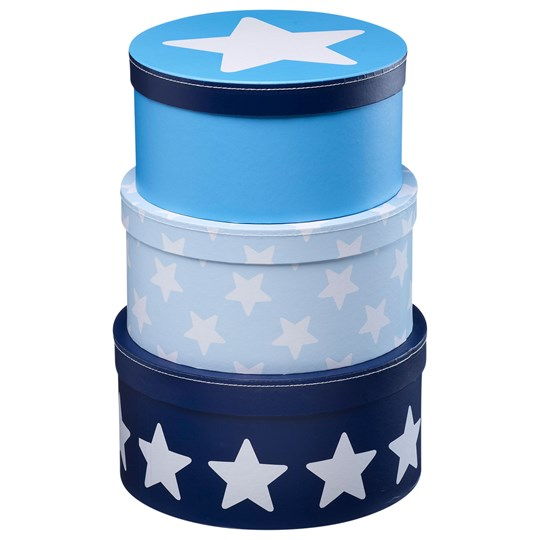 Kids Concept Boxes Round Star Blue Multi