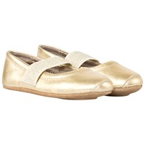 Bisgaard Ballet Flats Gold Yellow