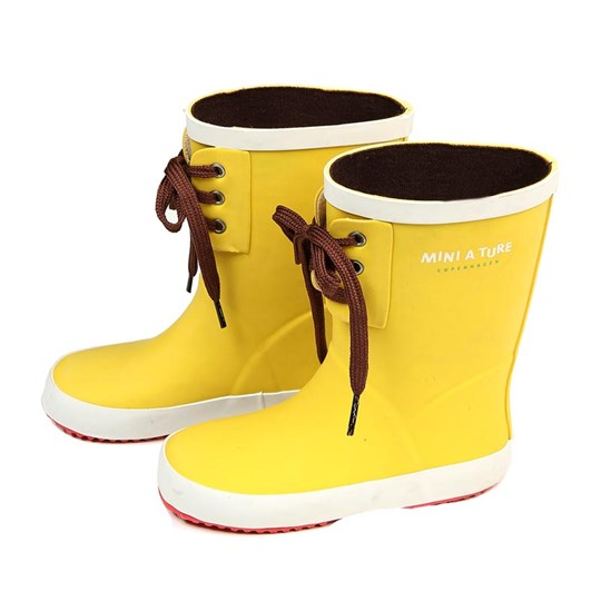 Mini A Ture Jerry Wellies Snap Yellow Yellow