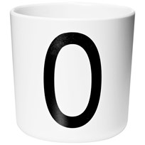 Design Letters Melamine Cup O White