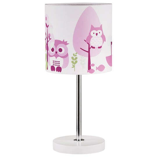 Kids Concept Lamp Owl Pink Multi
