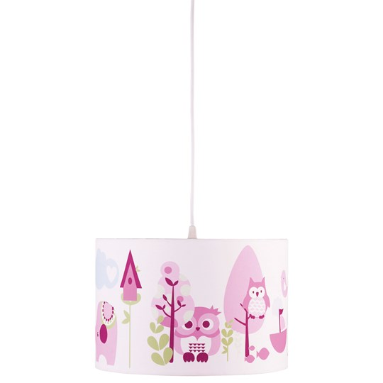 Kids Concept Ceiling Lamp Owl Pink Pink