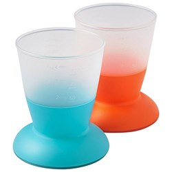 Babybjörn Cup 2-Pack Orange/Turquoise