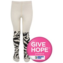 Popupshop Tiger Tights White Multi