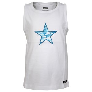 Image of Lundmyr Of Sweden White Star Print Tank Top 50 (0-3 mdr) (2743793261)