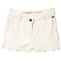 Scotch R'belle Allover Embroidered Shorts Offwhite White