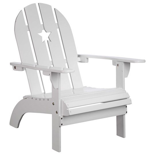 Kids Concept White Patio Chair with Star White