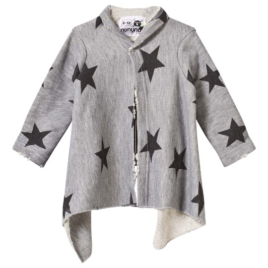 NUNUNU Star Asymmetrical Cardigan Grey