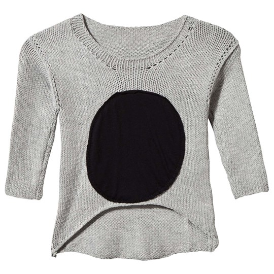 NUNUNU Patch Sweater GREY Grey