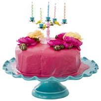 RICE A/S Pink Candlebra Cake Decoration Multi