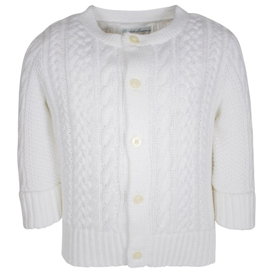 Ralph Lauren Aran-Knit Cotton Cardigan White White