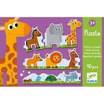 Djeco Puzzle Small And Big пестрый