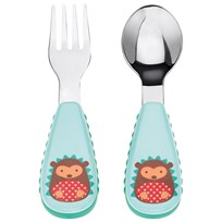 Skip Hop Zootensils Fork & Spoon Set Hedgehog Multi