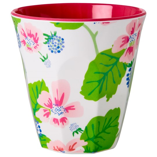 Rice Melamine Cup Blossoms & Berries Multi
