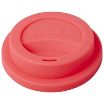 Rice Latte Cup Silicone Lid Neon Coral Orange