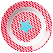 RICE A/S Kids Melamine Bowl Star Red