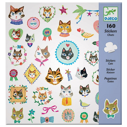 Djeco Cat Stickers Multi