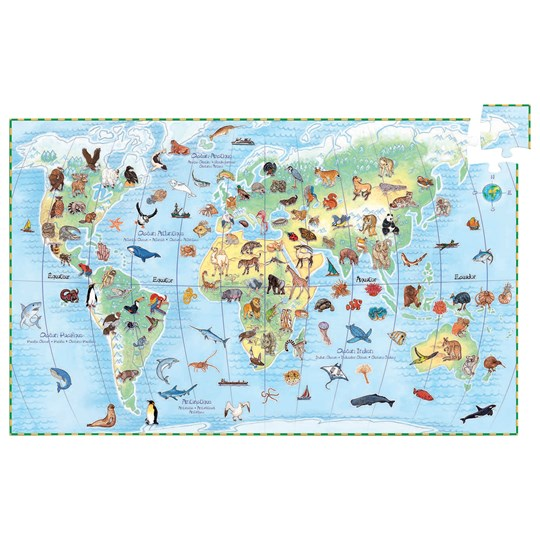 Djeco Observation Puzzle Worlds Animal Multi