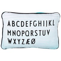 Design Letters Design Letters Aj ABC Cushion White/Turquoise Multi