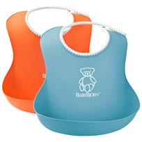 Babybjörn Mjuk Haklapp 2-pack Turkos/Orange BlueOrange