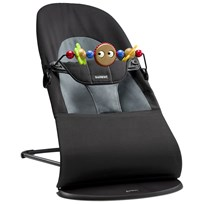 Babybjörn Bouncer Balance Soft With Wooden Toy Black/Gray Black