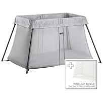 Babybjörn Travel Cot Bundle With Fitted Sheet Hopea