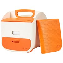 Ubbi Diaper Caddy Orange Orange