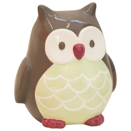 Kids Concept Money Box Owl Pumpkin Grön/Brun