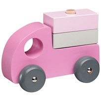 Kids Concept Wooden Cars Set 3 Pink Rosa
