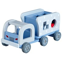 Kids Concept Blue Wooden Block Truck Sand
