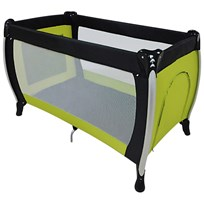 Basson Baby Travel Cot Black/Green Black