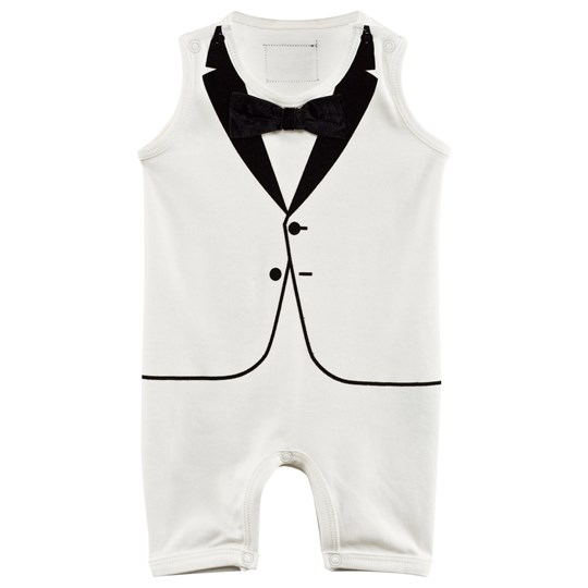 The Tiny Universe The Tiny Summer Romper Ivory Black and White