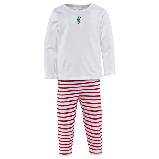 The Little White Company Pirate And Parrot Pyjamas Hvid