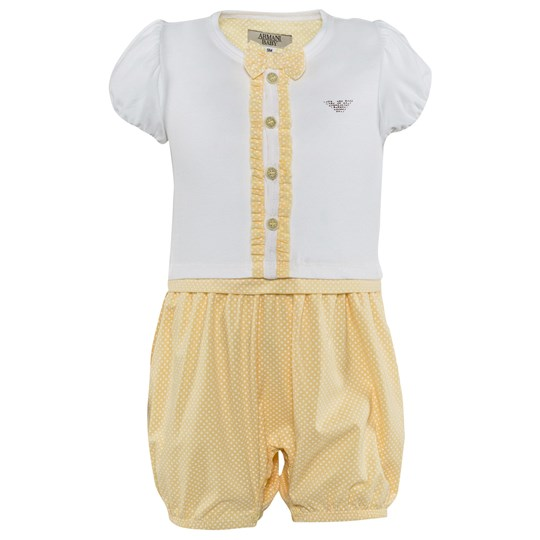 Emporio Armani Baby Jumpsuit Pink White Gold