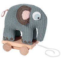 sebra Игрушка Crochet Elephant On Wheels Pastel Blue Pastel Blue