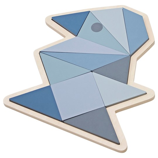 sebra Wooden Puzzle Bird Boy Pastel Blue