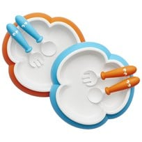 Babybjörn Baby Plate, Spoon & Fork 2 Sets Orange/Turquoise Turkoosi
