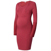Esprit Maternity Dress Mix Nursing LS Bordeaux Red Red