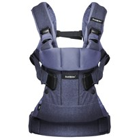 Babybjörn Baby Carrier ONE Denim Blue Cotton Mix Sand