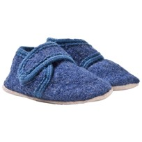 Celavi Wool Baby Shoes Blue Melange Blue