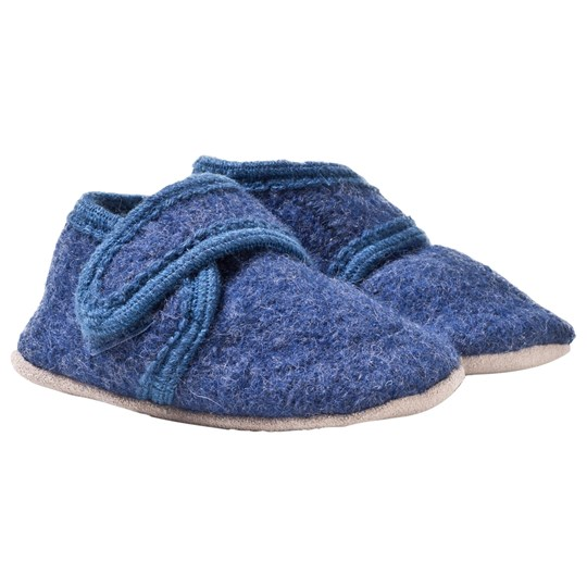 Celavi Wool Baby Shoes Blue Melange Blå