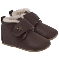 Bisgaard Star Home Shoe With Wool Brown Brown