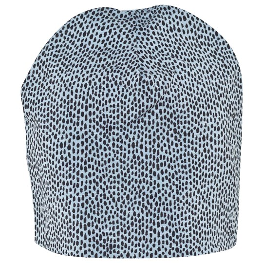 Soft Gallery Beanie Sterling Blue AOP Pebbles Sterling Blue