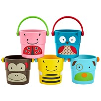 Skip Hop Zoo Stack & Pour Buckets 5-Pack Multi