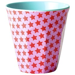 Rice Melamine Cup Two Tone Girl Star Print