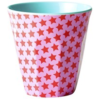 RICE A/S Melamine Cup Two Tone Girl Star Print Rosa