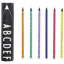 Design Letters AJ Colored Crayons Multi