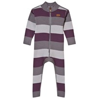 Voksi Wool Rib One-Piece Purple Purple